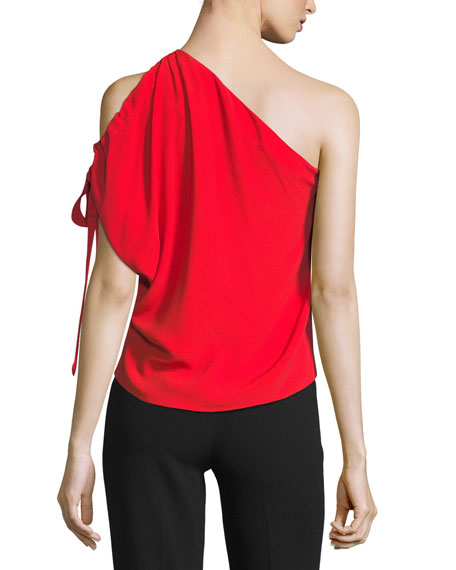 Nali One-Shoulder Crepe Top