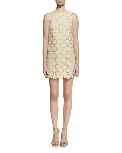 Clyde A-Line Shift Mini Dress, Gold