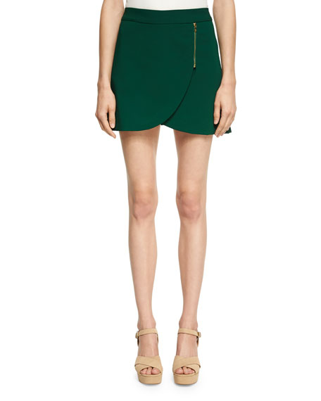 Alice + Olivia Lennon Side-Zip Tulip Mini Skirt,