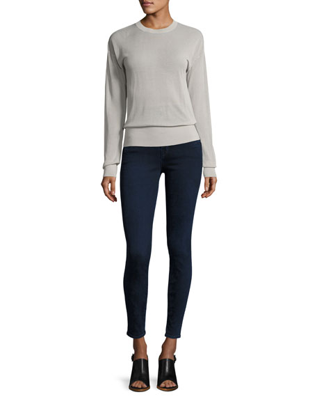 Natasha Sky High-Waist Skinny Jeans, Blue