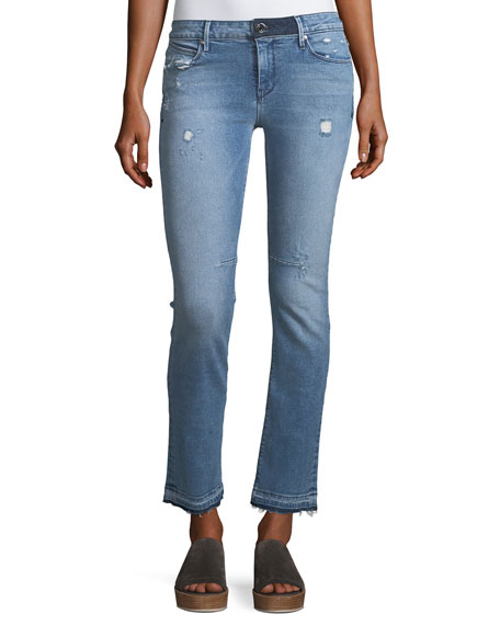 RtA Denim Curtis Low-Rise Straight-Leg Jeans