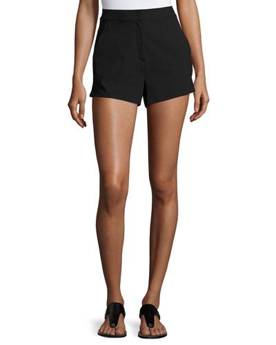 Carson Crepe Shorts, Black