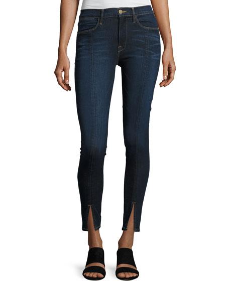 Le High Split-Front Skinny Jeans, Indigo