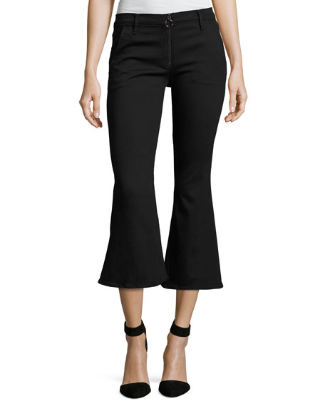 FRAME Le Crop Bell Pants, Black