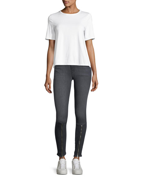620 Mid-Rise Skinny Jeans w/ Zip