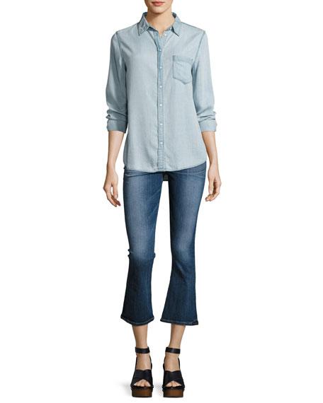 Brix High-Rise Crop Flared Jeans, Indigo