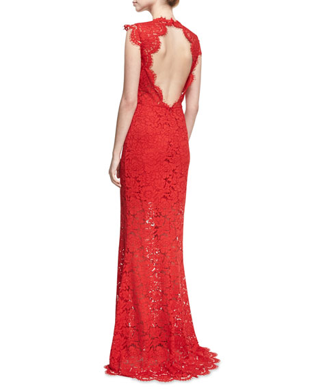 Estelle Cutout Maxi Dress, Red
