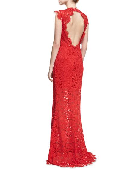 Estelle Cutout Maxi Dress, Red
