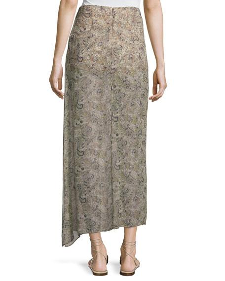 The Midi Slayer Skirt, Beige-Multi