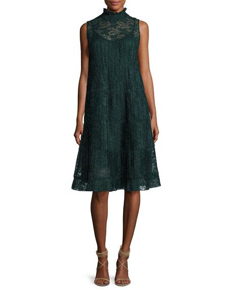 Sleeveless Chiffon Midi Dress, Green