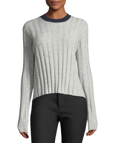 Bicolor Tie-Back Sweater