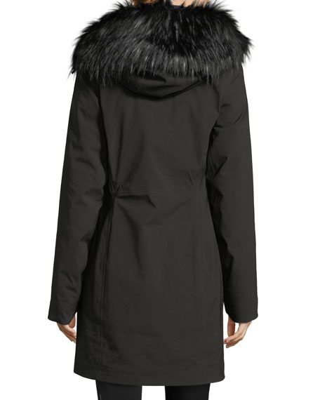 Triclimate® Hooded Zip-Front Parka Jacket w/ Faux-Fur