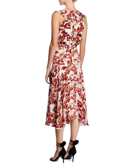 Rita Sleeveless Midi Dress, Multiprint