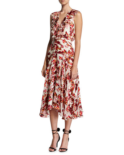 Rita Sleeveless Midi Dress, Multiprint