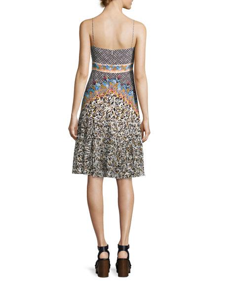 Veronica Silk Short Dress, Black