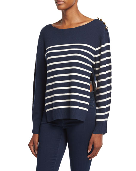 3.1 Phillip Lim Sailor Stripe Pullover Sweater W/