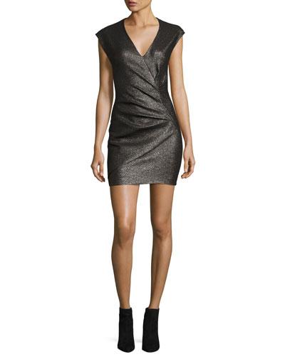 Dresdi Shimmery V-Neck Mini Dress