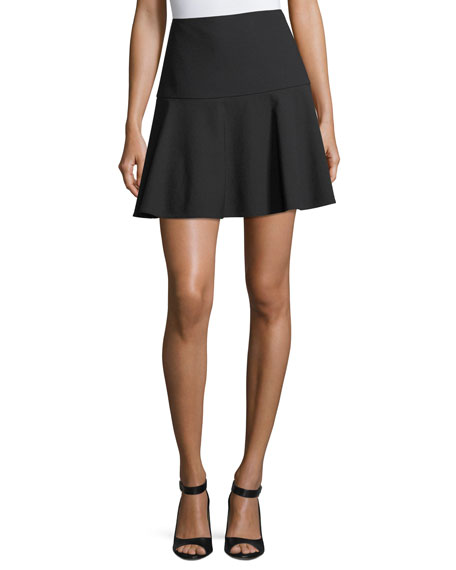 RED Valentino Cady Fit-&-Flare Miniskirt
