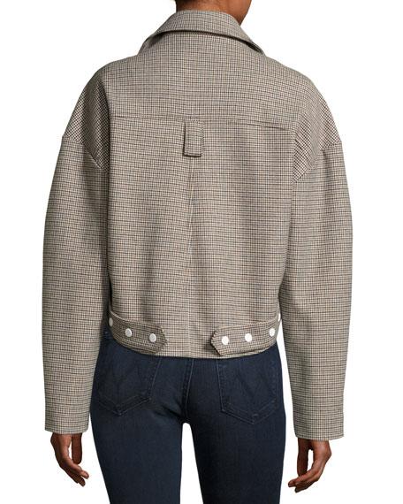 Atticus Houndstooth Moto Jacket