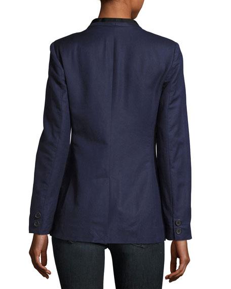 Amit One-Button Jacket, Blue