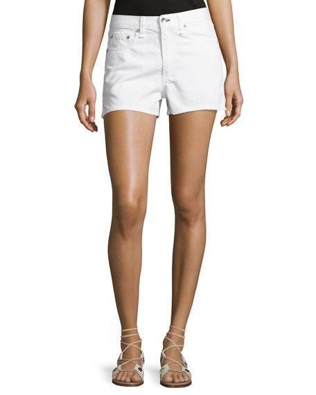 Justine Mid-Rise Denim Shorts