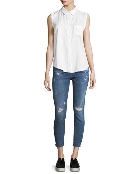 Florence Crop Distressed Skinny Jeans