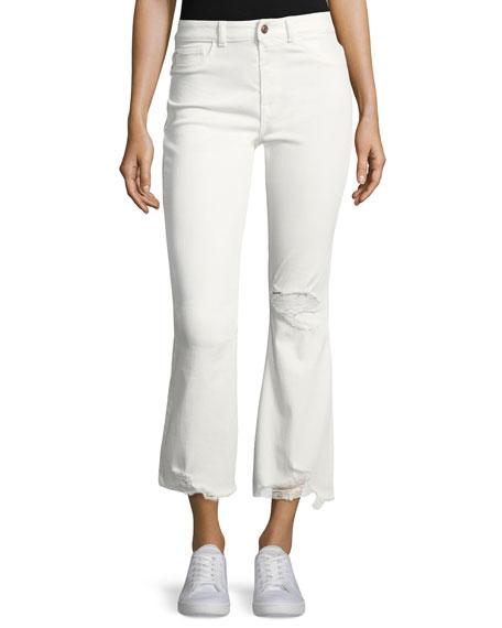 DL 1961 Jackie Trimtone Crop Flare Jeans