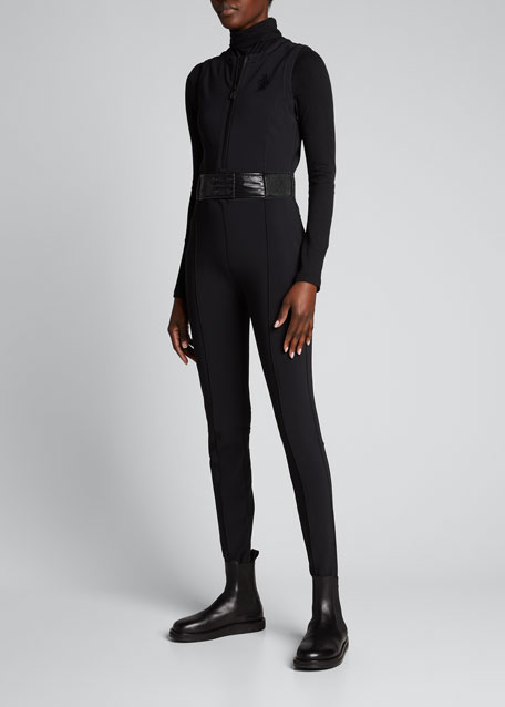 Tuta Belted Stirrup Jumpsuit, Black