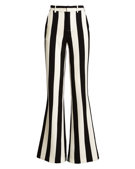 Paulette Striped Wide-Leg Pants