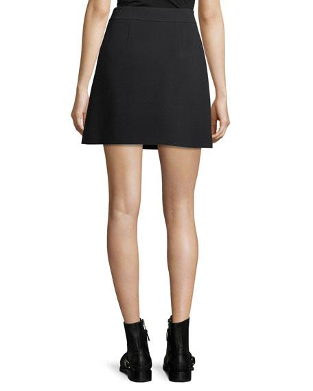 Fringed A-Line Wrap Skirt