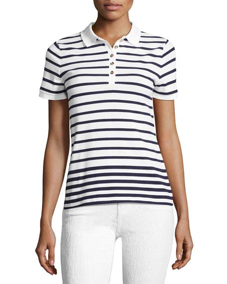 Ausa Short-Sleeve Striped Polo