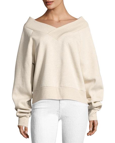 Falacho V-Neck Long-Sleeve Sweatshirt