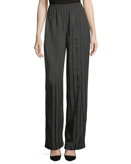 Satin-Striped Pajama Trousers