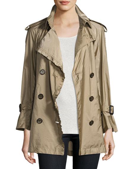 Ombersley Packaway Ruffled Rain Trench Coat