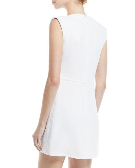 Sleeveless Notch-Collar Minidress