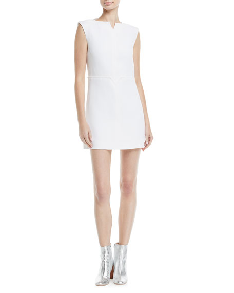 Sleeveless Notch-Collar Minidress