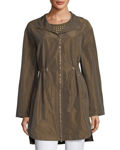 Nikolina Empirical Iridescent Tech Cloth Utility Jacket