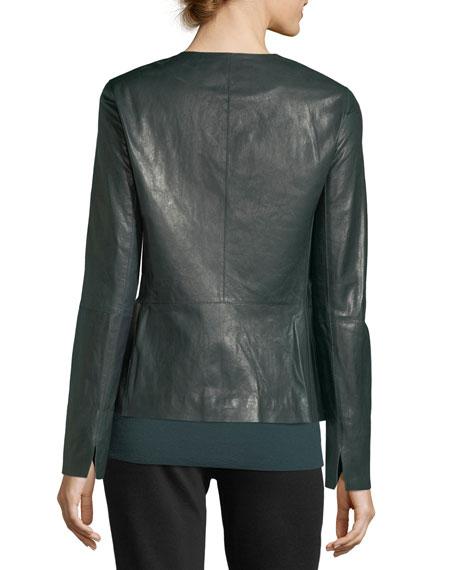 Kerrington Zip-Front Leather Jacket