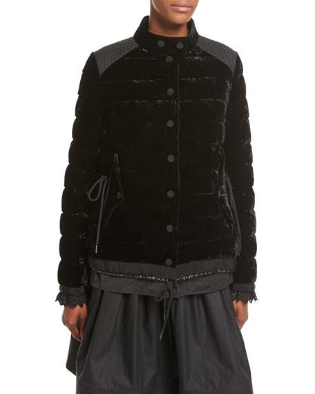 bf7548125 Beatrice Velvet Quilted Coat Black