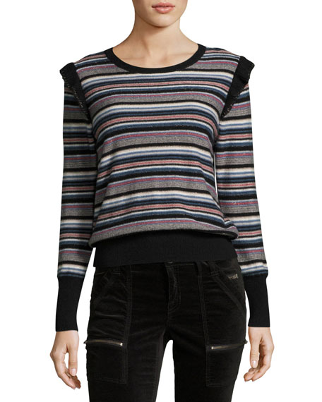 Joie Cais C Striped Knit Sweater