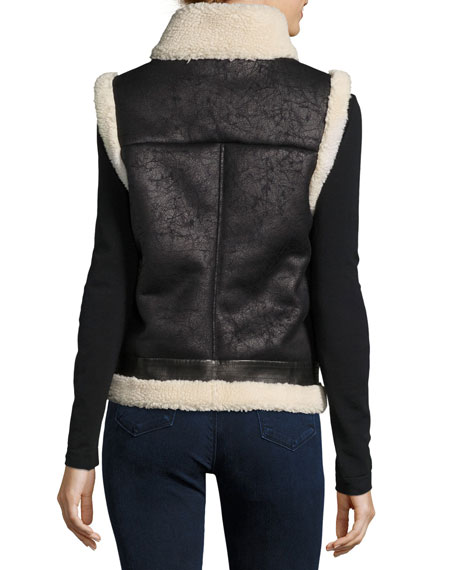 Danay Fur Vest, Black