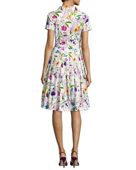 Avery Short-Sleeve Floral-Print Shirtdress