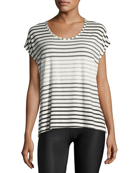 Beyond Yoga Bring It Ommmbre Striped Top, Gray