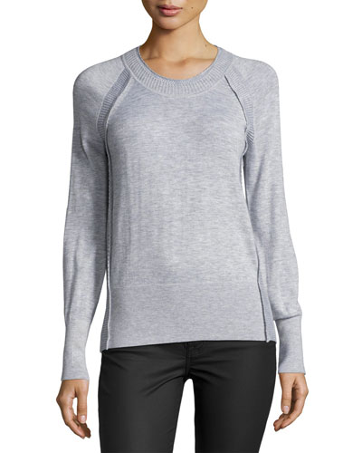 Lightweight Cashmere Crewneck Top