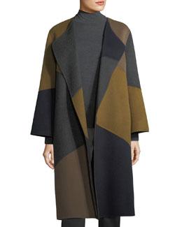 Belissa Colorblocked Double-Faced Reversible Coat