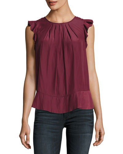 Euna Sleeveless Sateen Top