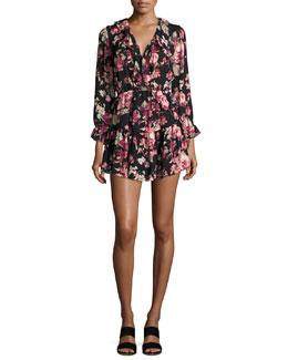 Josada Floral-Print Ruffled Mini Dress