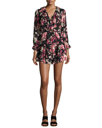 Josada Floral-Print Ruffled Mini Dress