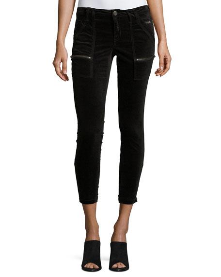 Park Skinny Velvet Pants, Black