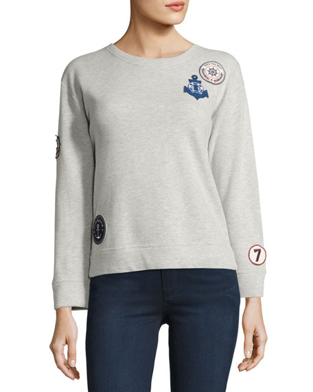 Rikke B Patched Pullover Sweater